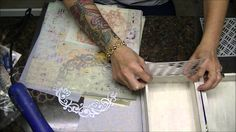 """shabby altered  boxes   Altered Cigar Box """"Book"""" Tutorial, Part 1, Shabby Chic - YouTube"""