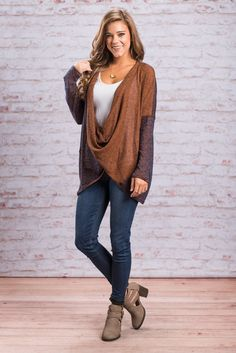 """""""Cross Over Here Top, Rust""""OMG! If you haven't joined the masses in adoring the cross-body trend, you better cross on over in time to get your hands on this gem!  #newarrivals #shopthemint"""