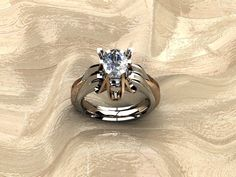 Sophisticated Women Who Love Bold Pieces...Two Tone w/Oval Diamond! by Iceris Jewelry