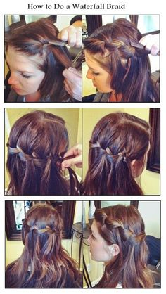 How to Do a Waterfall Braid   hairstyles tutorial