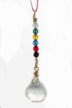 Hanging Crystal for protection in the car - 6 true colors -Feng shui - 20 mm