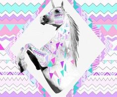 Piccsy :: Unicorn geometric artwork