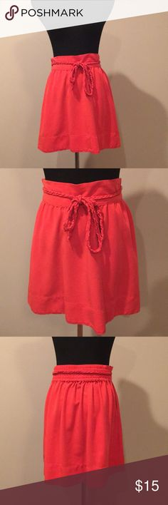 Tommy Hilfiger burnt orange skirt with bow Size s Tommy Hilfiger Skirts
