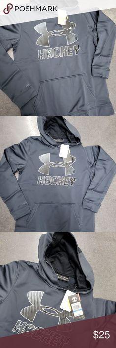 26c42bbb05da UNDER ARMOUR UA Hockey Wordmark Boys Hockey Hoodie New w tags Under Armour  Shirts