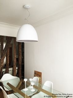 #Nur Gloss suspension for this private flat in Paris. The result is so nice. #design Ernesto Gismondi