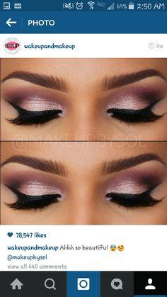 Mauve pink Makeup look