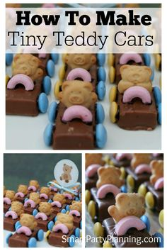 Need some easy kids party food ideas?  You can't get much easier than tiny teddy cars.  They are cheap and simple to make, plus look adorable!  Make them ahead of time to allow extra time for preparing things on the day.  The kids absolutely love them and