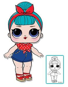 LOL Surprise Doll Coloring Pages – Page 8 – Color your favorite LOL Surprise Doll!
