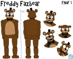 Freddy Reference Sheet by FNAFNations
