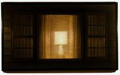 """Dan Witz  (American, born 1957) """"Lamp in Window"""""""