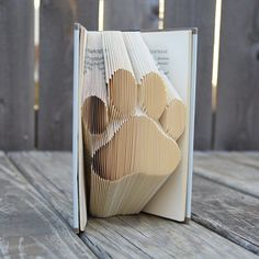 Paw Print Folded Book  Home Decoration  Unique Gift by iHeartCtrlZ