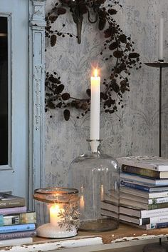 I like the idea of using different items as candle holders, not just at Christmas but all year long.