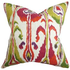 The Pillow Collection Gudrun Ikat Throw Pillow & Reviews | Wayfair
