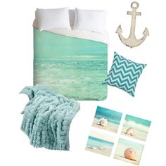 beach themed bedrooms One color and a few accessories can
