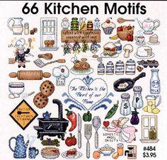 Kitchen motifs xstitch - motivos para bordar em ponto cruz para cozinha.