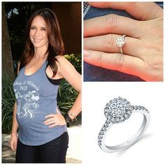 Mom To Be Jennifer Love Hewitt Has A Beautiful New Ring That Looks Lot Like Our Sylvie Round Brilliant Halo