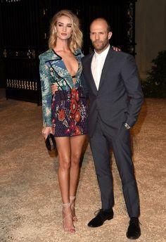 April 2015 - Stylish Celeb Couples: Rosie Huntington-Whiteley and Jason Statham - Photos