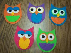 Five little owls rhyme and owl template