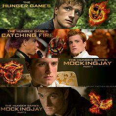 Peeta Mellark - The Hunger Games ,Catching Fire, Mockingjay Part 1, Mockingjay Part 2