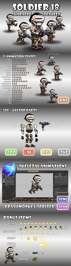 Soldier Character 18 (Sprites)