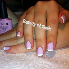 CND Shellac nail polish # cake pop#