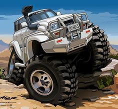 Best classic cars and more! Toyota Lc, Toyota Trucks, Toyota Hilux, 4x4 Trucks, Land Cruiser 80, Toyota Land Cruiser, Funny Car Memes, Car Humor, Jeep Drawing