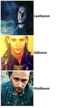 The faces of Loki (the Hiddleson bothers me because it makes me think they forgot the t..)