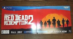 PS4 RED DEAD REDEMPTION 2 FALL 2017 PANORAMIC PROMOTIONAL POASTER BOARD #Sony