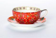 Marigold Magic Pink Cup & Saucer | T2 Tea