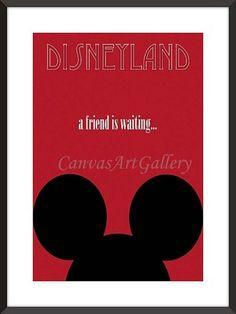 Vintage Mickey Mouse Wall Art Decor Disneyland Poster Reprint not Framed 18x24   eBay