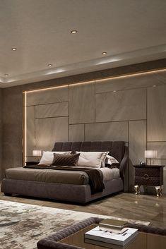 Modern Luxury Bedroom, Luxury Bedroom Design, Room Design Bedroom, Bedroom Furniture Design, Luxurious Bedrooms, Contemporary Bedroom, Bedroom Decor, Night Bedroom, Bed Headboard Design