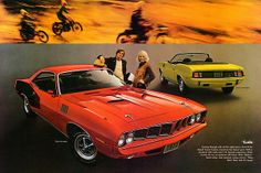 1971 Plymouth Barracuda ad poster