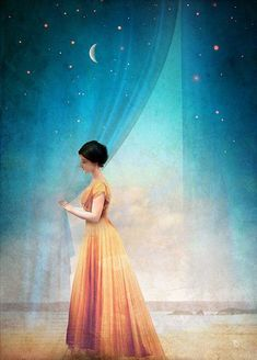 """""""Night with a View"""" Digital Art by Christian Schloe posters, art prints, canvas prints, greeting cards or gallery prints. Find more Digital Art art prints and posters in the ARTFLAKES shop. Magritte, Illustrator, Art Sculpture, Art Moderne, Pop Surrealism, Wassily Kandinsky, Moon Art, Art Plastique, Surreal Art"""
