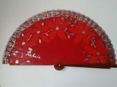 Abanico para vestido rojo y complementos en plata