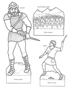 60 Atividades Bíblicas Infantil para Montar, Colorir e Imprimir - Online Cursos Gratuitos Bible Story Crafts, Bible Crafts For Kids, Bible Stories, David And Goliath Craft, David Et Goliath, Sunday Activities, Bible Activities, Sunday School Lessons, Sunday School Crafts