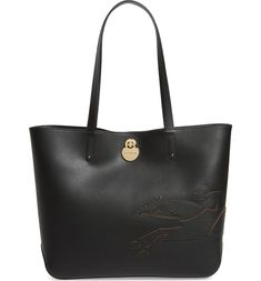 c1b5bc0f9408 Longchamp Medium Shop-It Leather Tote in Black Nordstrom