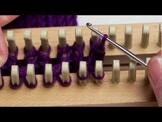 Bind Off of Loom and Anchor Yarn