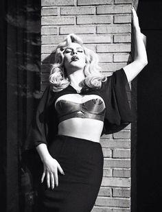 Photo Ellen von Unwerth::Chloe Hayward in Vogue Italia June 2013::What Katie Did bra
