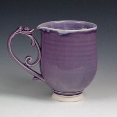 Large Purple Flourish Mug Pottery Mugs, Marketing And Advertising, Flourish, Unique Gifts, Handmade Items, Buy And Sell, Purple, Stuff To Buy, Etsy
