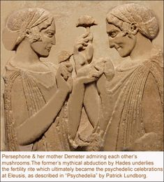 persephone and demeter mushroom images Mushroom Images, Mushroom Art, Wicca, Witches Dance, Religious Rituals, Vintage Goth, Cave Drawings, Legends And Myths, Greek Art