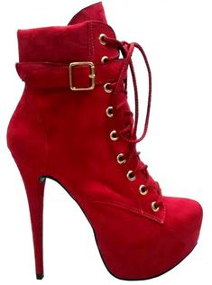 Victor Vicenzza - Ankle Boot Vermelha Beatrice