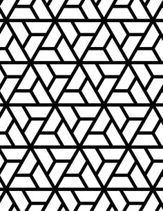Abstract geometric black and white graphic design print