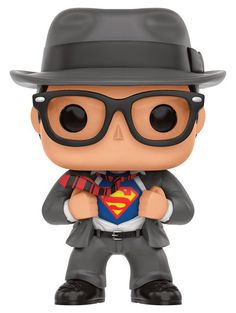 FIGURA POP SUPERMAN: CLARK KENT. Figura de vinilo, tamaño aprox. 9 cm.Fabricante: FUNKO