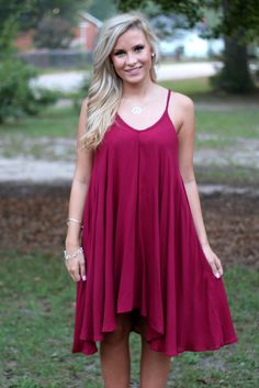 Falling For You Dress: Wine - Off the Racks Boutique
