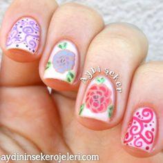 roses and swirls