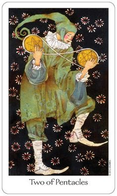 Tarot Card The Two of Pentacles | From The Dreaming Way Tarot
