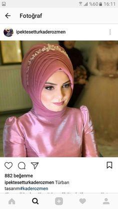 , Wedding Abaya, Muslim Wedding Dresses, Muslim Brides, Pakistani Bridal Makeup, Bridal Hijab, Hijab Bride, Turban Hijab, Hijab Dress, Hijab Style Tutorial