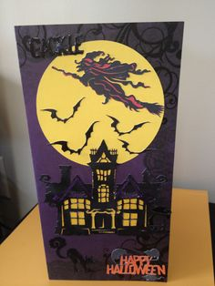 Even my husband  with my help can make a Halloween card  using my cricut  chic & scary cartridge