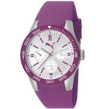 Puma Fast Track Multi-function Silver Dial Purple Silicone Ladies Watch PU102822004 PUMA. $104.00. Puma Women's Quartz Watch PU102822004. Save 35%!