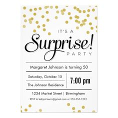 Surprise party invitation madewithlovejjsy confetti surprise party invitation stopboris Image collections